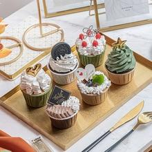Simulation-Cake-Model Dessert Table-Decoration Photography-Props Cupcake Fake-Cream Gourmet