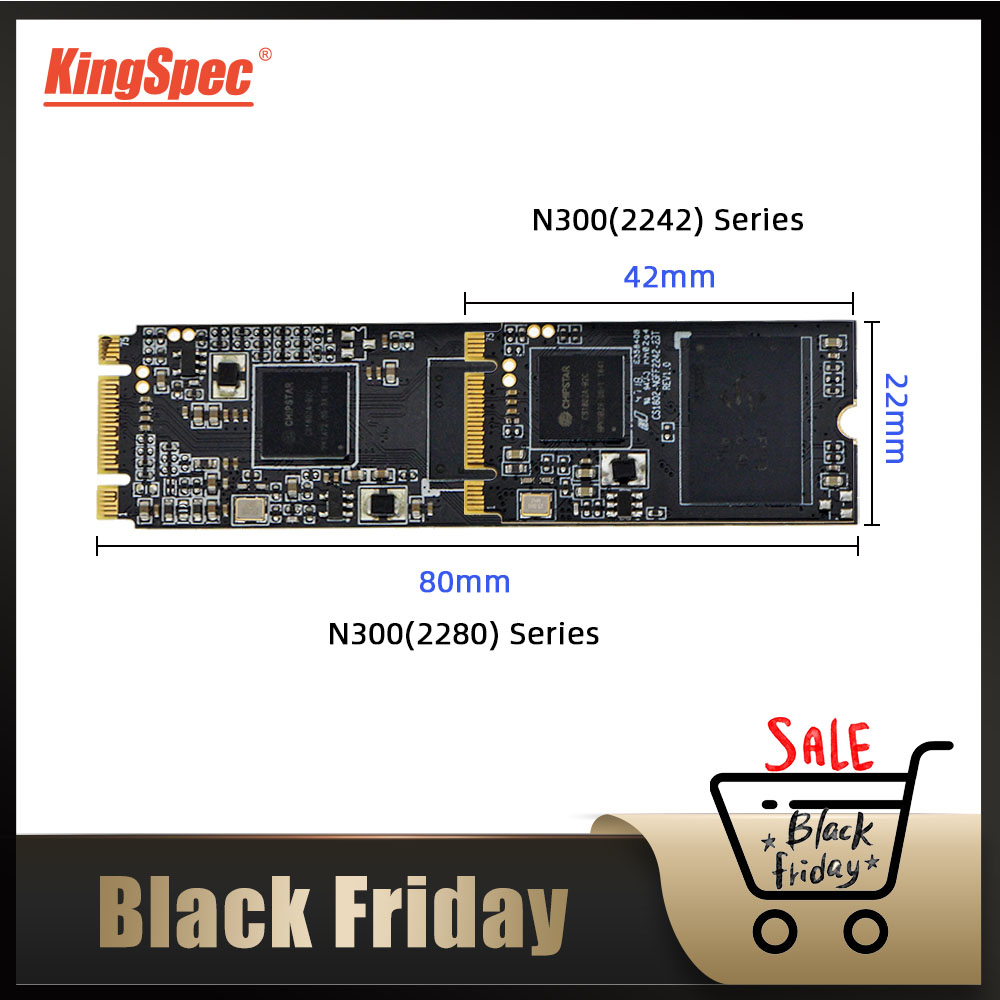 KingSpec M.2 Sata 2tb Ssd 64gb 128gb 256gb 2242mm Ngff SSD 512gb 1TB N300 Series 2280 Mm M2 SATA NGFF Hdd For Laptop Desktop PC