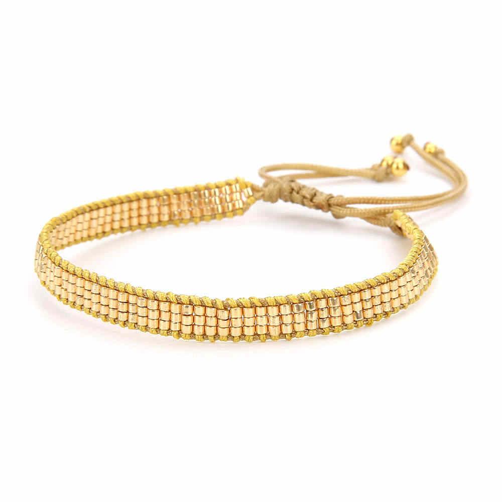 Zhongvi MIYUKI bilezik kadınlar takı altın bilezikler ayarlanabilir dantel-up Pulseras el yapımı Moxico takı hediye 2020 Dropshipping