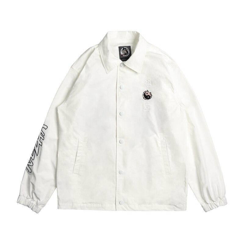 Американская уличная мода, мужская куртка, высшее качество, брендовая Дизайнерская куртка на молнии в стиле хип хоп, Мужская джинсовая курт... - 2