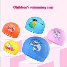 Мультяшная шапочка для плавания детская силиконовая бассейна
