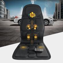 Professional Car Household Office Full Body Massage Cushion Lumbar Heat Vibration Neck Back Massage Cushion Seat
