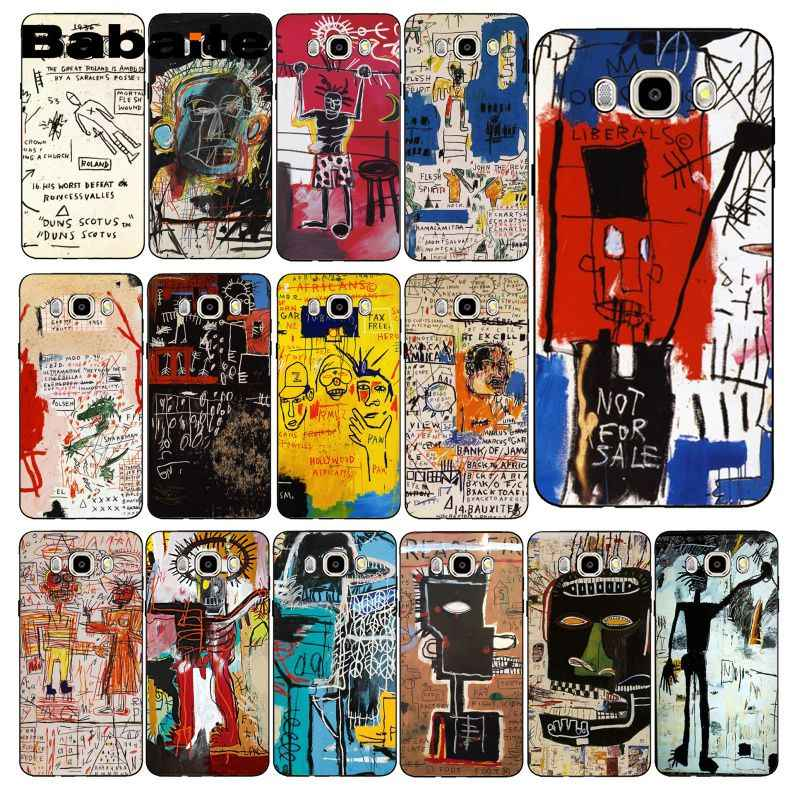Babaite jean michel basquiat sztuki Graffiti etui na telefon dla Samsung Galaxy J7 J6 J8 J4 J4Plus J7 DUO J7NEO J2 J5 Prime
