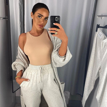 Body Tops Streetwear White Bodysuits suit clothes top catsuit size O Neck Summer Sleeveless Sexy Bodysuit Women Off Shoulder 2