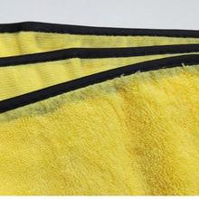 60*90 см автомобильное желтое полотенце для чистки автомобиля полиамидное волокно водопоглощающее