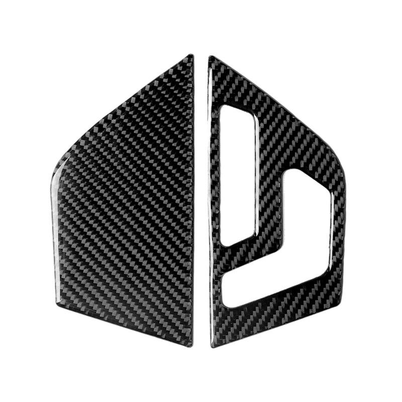 Car Carbon Fiber Left Drive Seat Adjustment Button Panel Cover For Mercedes Benz W204 C Class 07-13