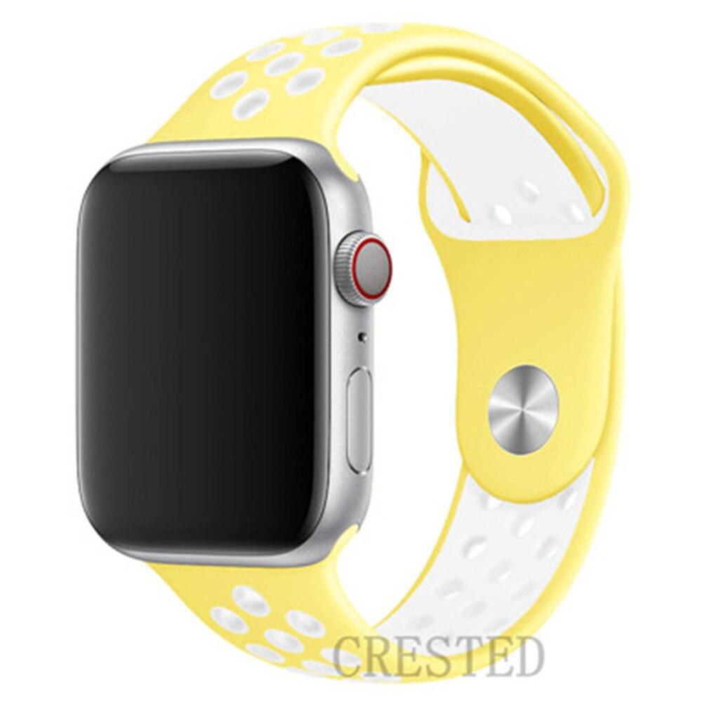 Спортивный ремешок для apple watch band 44 мм/40 мм apple watch 5 4 3 band iwatch band 5 42 мм/38 мм correa браслет ремень аксессуары для часов - Цвет ремешка: NEW mellow yellow
