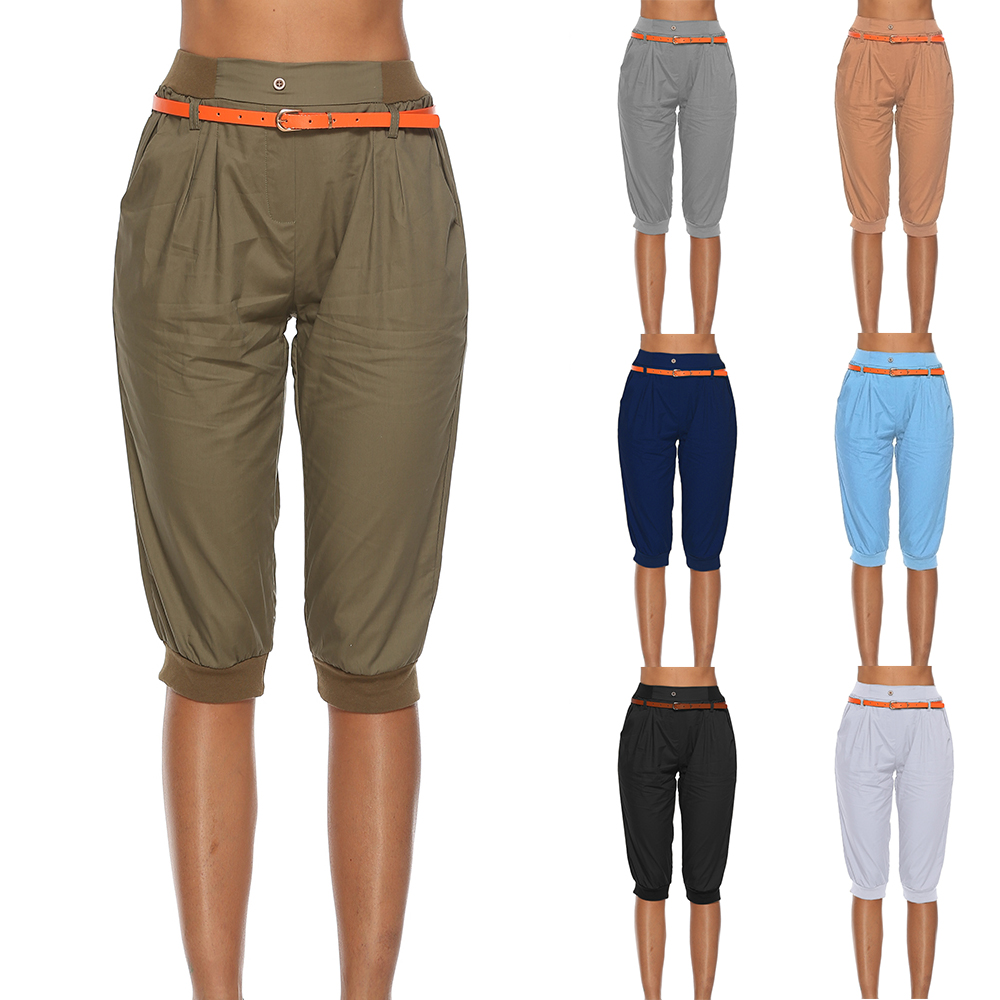 2019 Ladies Harem Pants Women Fashion Solid New Length Pant Plus Size 5XL Casual 3/4 Trousers Summer Female Capris Streetwear