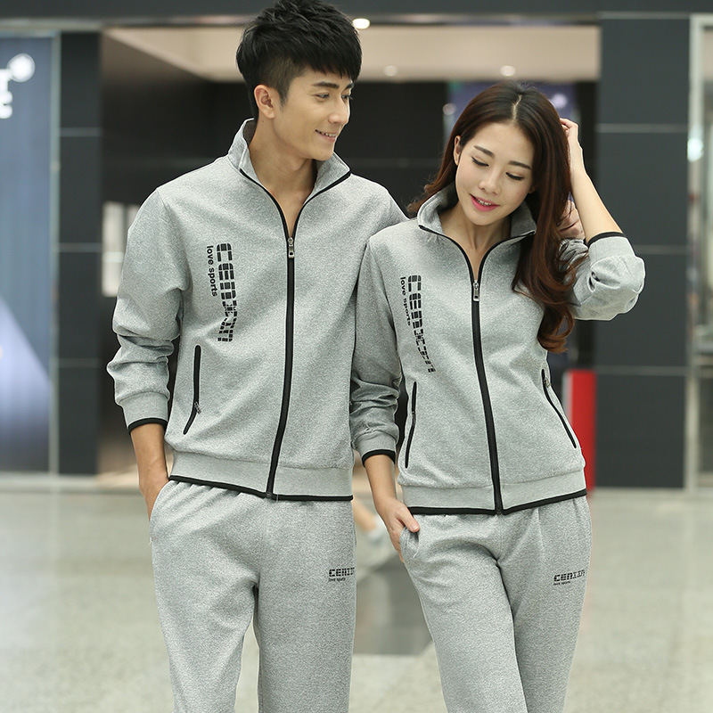 Sports WOMEN'S Suit Autumn 2018 New Style Couples Sports Clothing Spring And Autumn Casual Fitness Large Size Sportswear Men's S