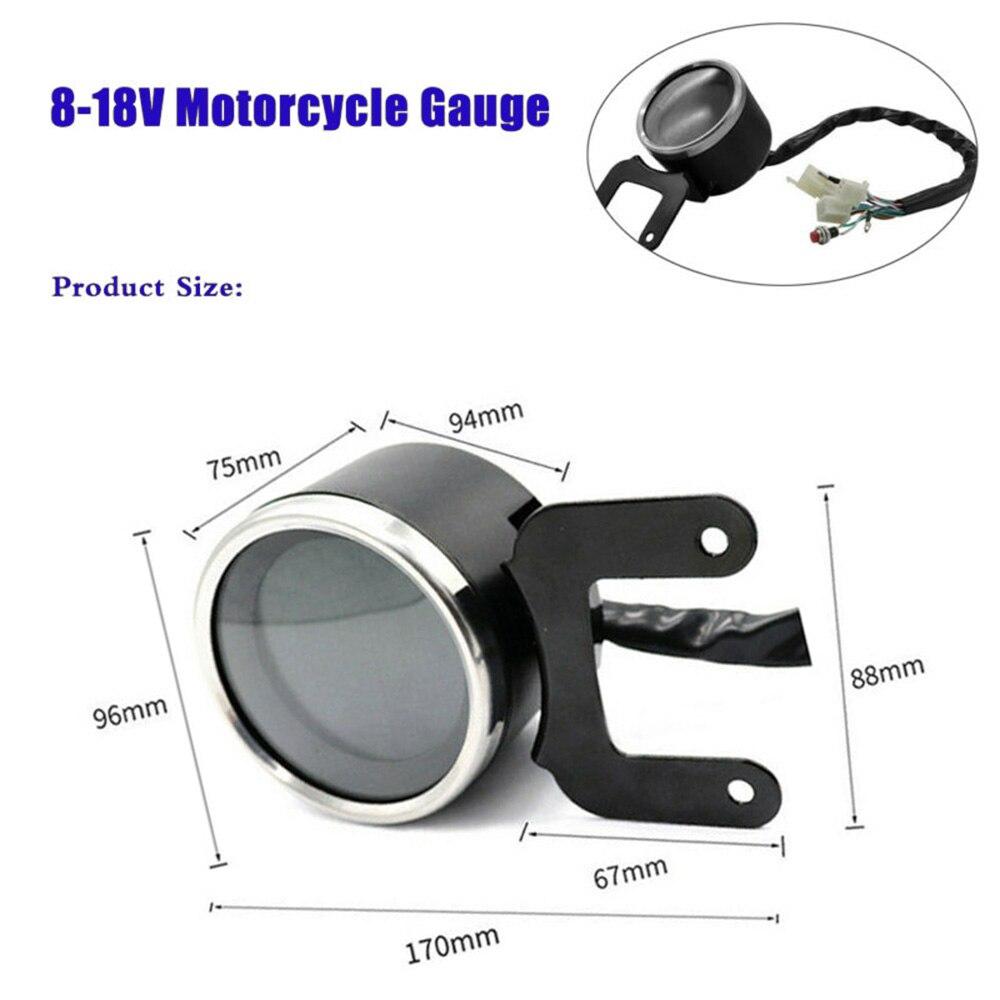 12v moto LCD tachymètre numérique compteur de vitesse compteur universel 60 KM/H