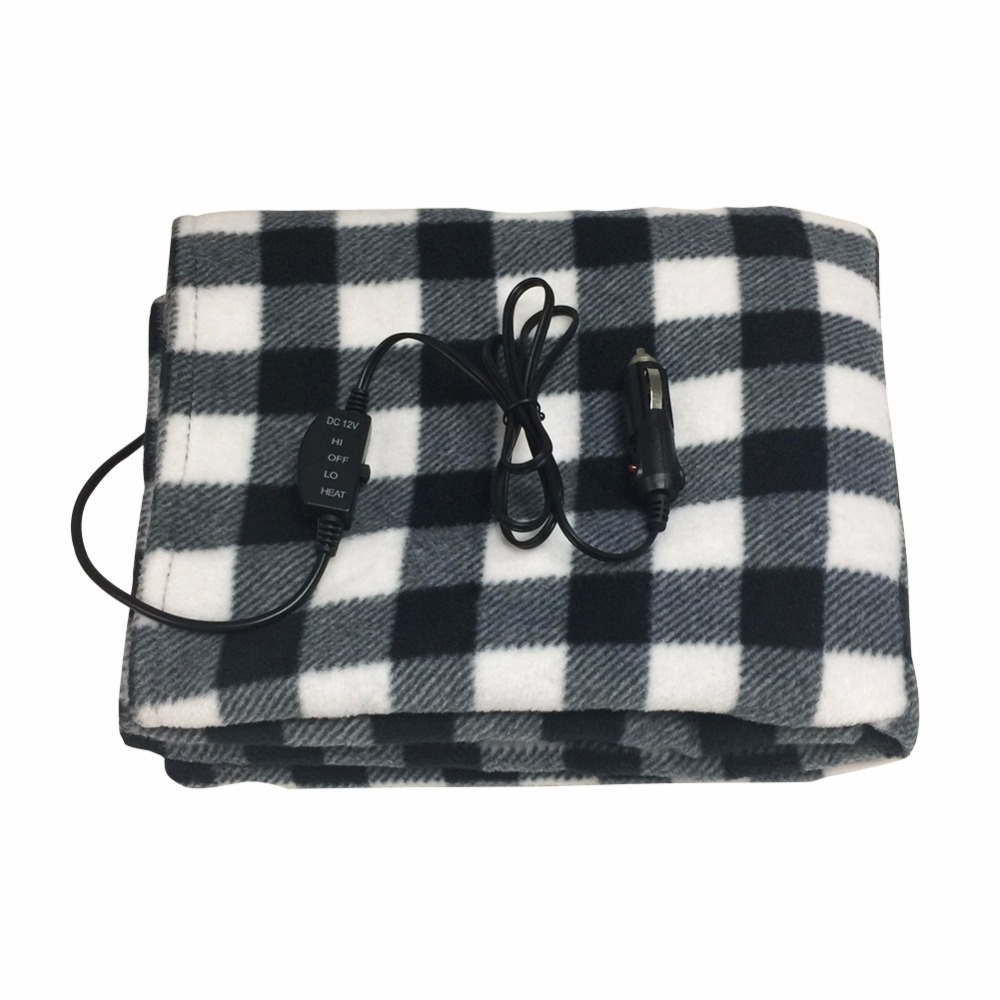 Car Electric Blanket Automotive 145*100cm New 12V Car Heating Blanket Lattice Energy Saving Warm Autumn And Winter|Car Travel Bed| |  - title=
