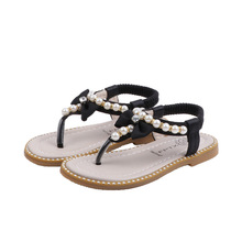 Summer Sandals Princess-Shoes Baby-Girl Beach Kids Fashion for Child 1-5/6/8/.. Beaded-Bow