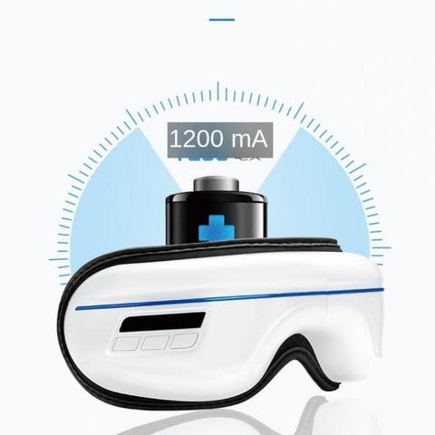 inteligente portatil massageador de olho vibracao eletrica instrumento cuidados com os olhos compressa quente fisioterapia