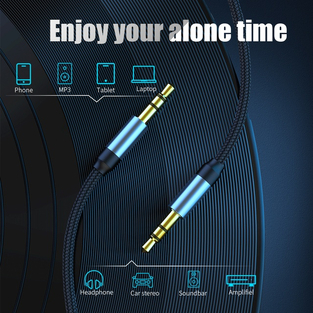 3.5mm Jack Audio Cable Jack 3.5 mm Male to Male Audio Aux Cable For Samsung S10 Car Headphone Speaker Wire Line Aux CordSpeaker 2