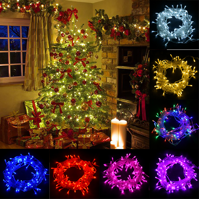 Led String 100m 50m 30m 20m 10m 5m Lights Christmas EU Plug 220v Led Garland Led String Lights Outdoor Christmas Lights