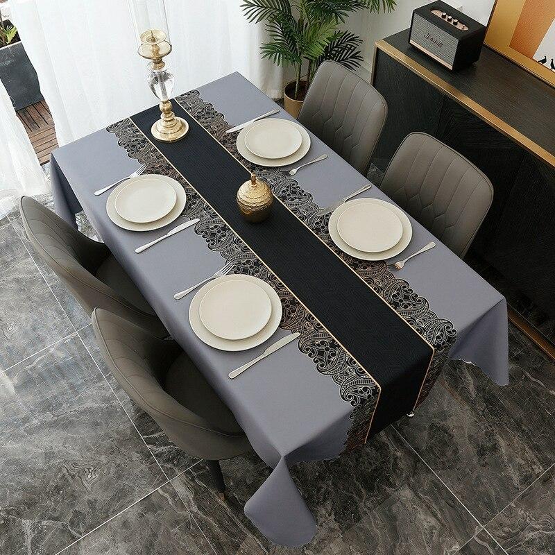 Lavagem doméstica livre e resistente à sujeira nordic mesa de chá retangular pano à prova dwaterproof água e óleo arte pano mesa