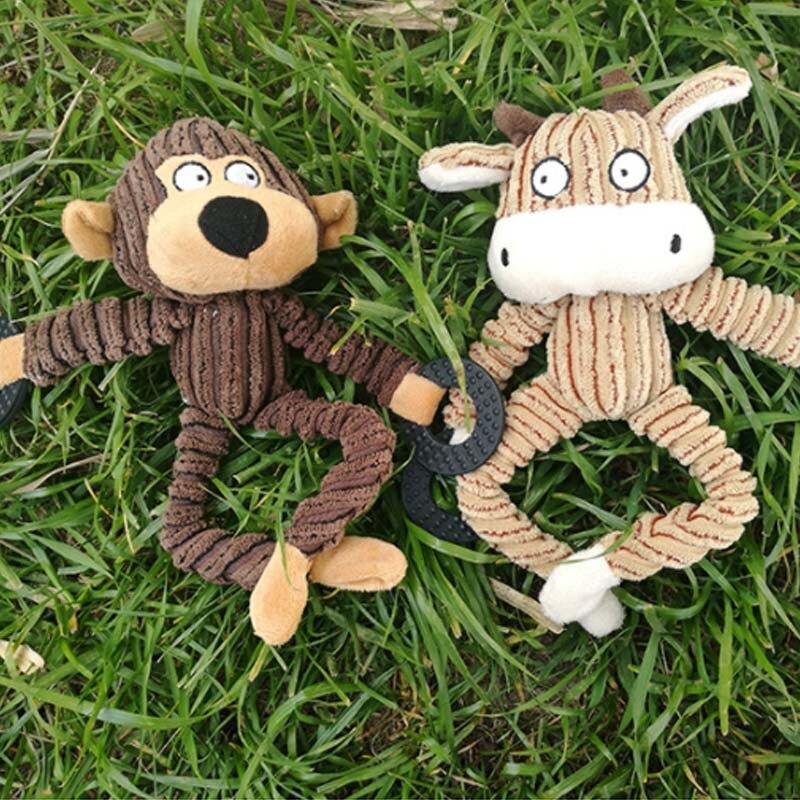 Чистки зубов скрипучий интерактивные игрушки мультфильм животное, фламинго, в форме хлопковая верёвка собачья игрушка товары для дрессировки домашних животных жевательные игрушки для питомцев 1 шт.-5