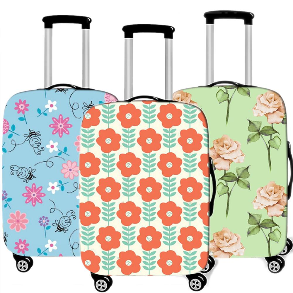 Fashion Small Flower Luggage Case Protective Cover Elastic Travel  Suitcases Dust Cover Accessories Organizadores 18-32 Inche