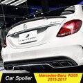 Углеродного волокна черный спойлер для Mercedes W205 2015 2016 2017 4-дверный седан автомобиль спойлер для mercedes benz c180 c200 c220 c250