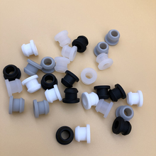 MAKSEY Silicone rubber Gasket O ring Sealing Grommet 0.25 0.3 0.35 0.4inch Waterproof Rubber Grommet Parts Hole Plug 6 8 9 10mm
