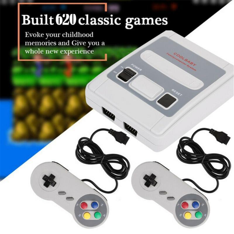 Ретро Портативный мини портативная игровая консоль 8-битный игровой плеер встроенный 620 игры для супер Nintendo + 2 контроллера