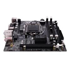 Материнская плата PPYY NEW  H55 LGA 1156, разъем LGA 1156 Mini ATX, настольное изображение USB2.0 SATA2.0, двухканальный 16 ГБ DDR3 1600 для Intel