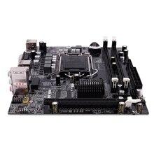 PPYY Toma de placa base LGA 1156 H55, Mini Escritorio, imagen ATX, USB 2,0, SATA2.0, doble canal, 16G, DDR3, 1156, para Intel