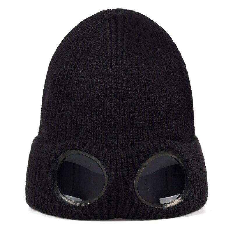 2019 новая шерстяная шапка в масках, модные новые головные уборы с очками, осенние и зимние уличные шапки для верховой езды, универсальные кры...