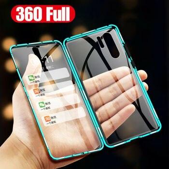 Double Sided Glass Magnet Cover Case For Huawei P20 P30 Lite Mate 20 Nova 5 Pro 5i 4 P Smart Plus 2019 Honor 20 Pro V20 20i 10i