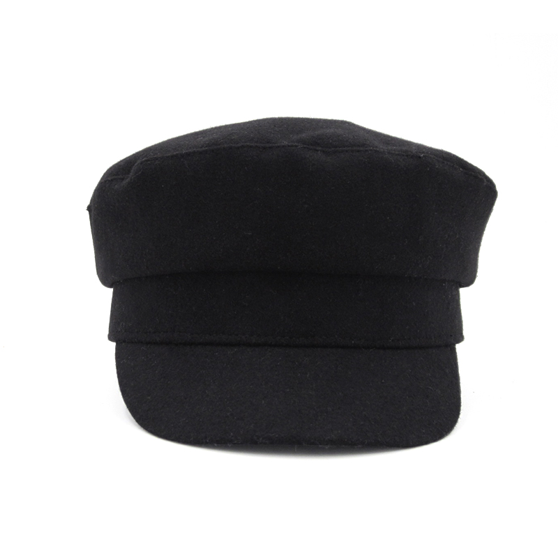 Image 2 - Solid Color Navy Caps For Women Autumn Winter New Fashion Camel And Black Comfortable Casual Vintage Warm Military Hats Female-in Women's Military Hats from Apparel Accessories