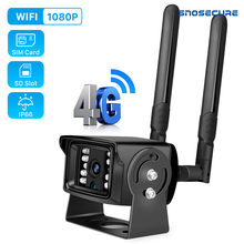 SNOSECURE 1080P 4G SIM Card Wifi IP Camera Waterproof 2MP ONVIF Metal Case Mini CCTV Security Cameras 128G SD Card Slot