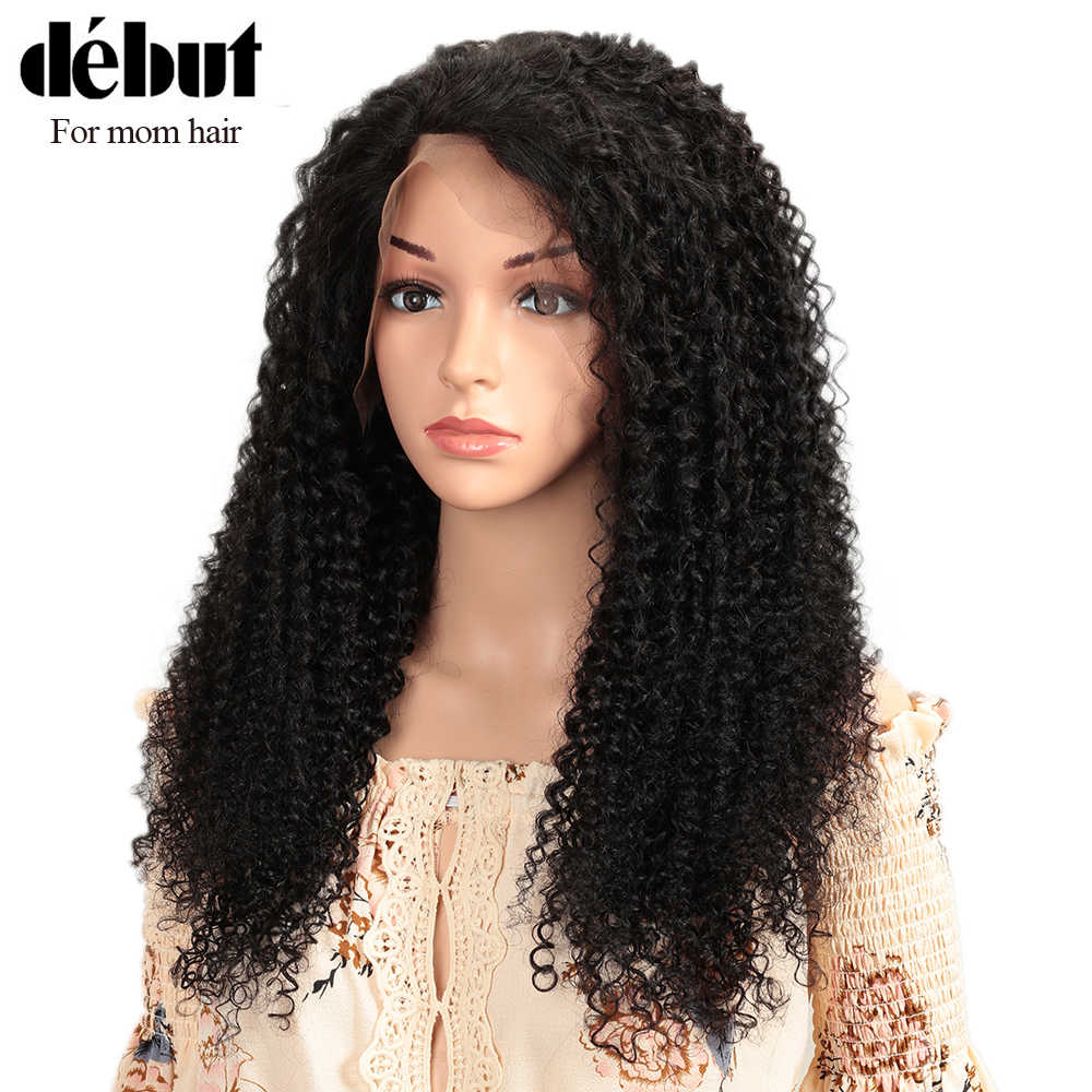 Debut Lace Front Human Hair Wigs 13x4 Lace Front Wig Curly Human Hair Wig 100% Remy Indian Hair Wigs Kinky Curly Human Hair Wigs