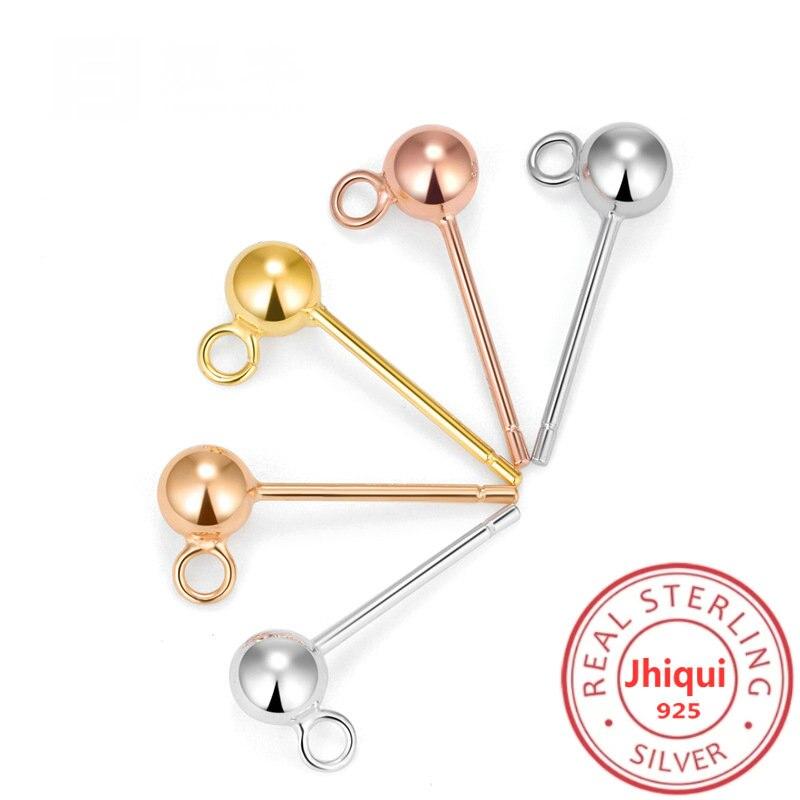 Купить шпильки для сережек гвоздиков из стерлингового серебра 925 пробы