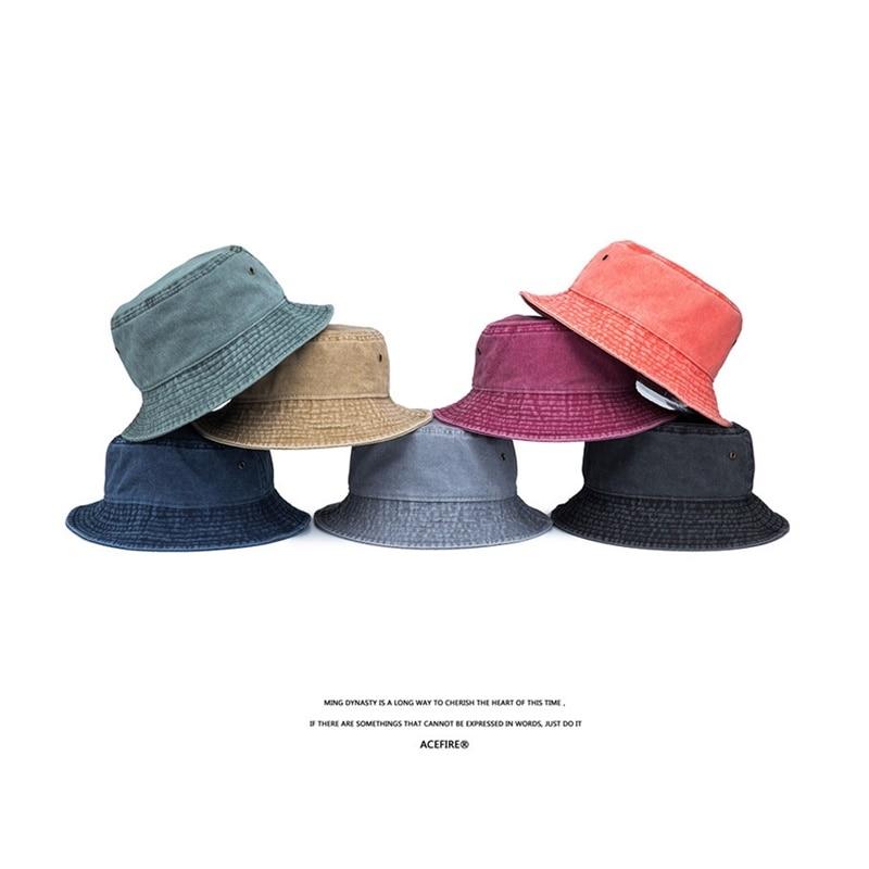 Bucket Hats For Men Women,Sun Fishing Hunting Flat Top Casual Outdoor Cap
