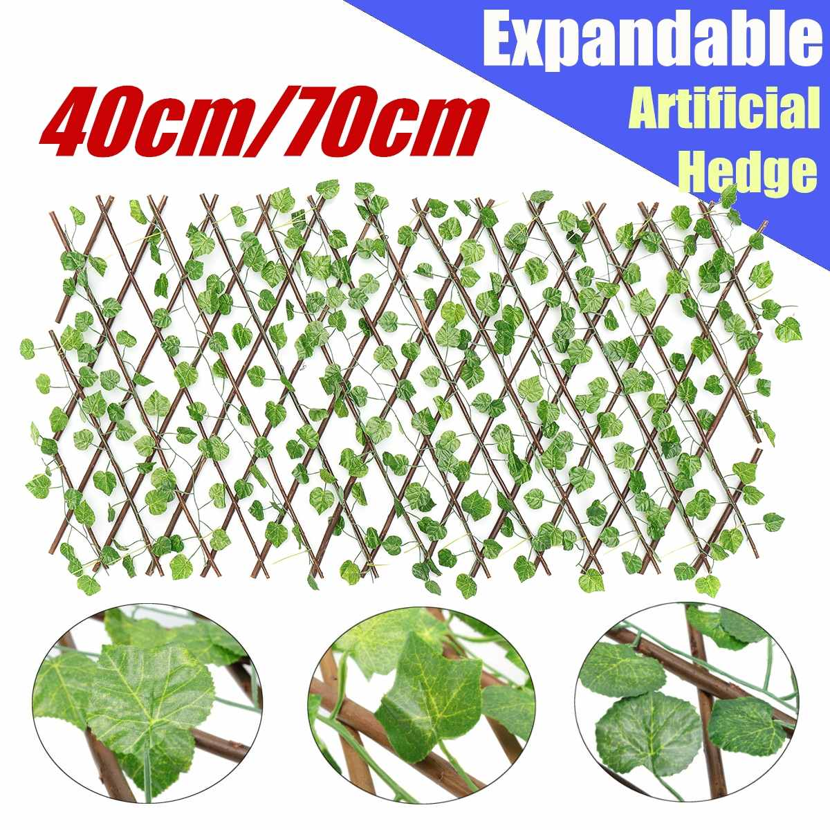 40cm Green Expandable Artificial Hedge Leaf Fence Garden Patio Yard Screen Party Decoration Home Restaurant Ornaments Photo Prop