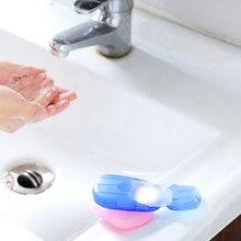 Портативный 20 шт./компл. мыло таблетки ящик для хранения мини Ручная стирка мыло Бумага открытый бизнес поездки Путешествия disable0.57