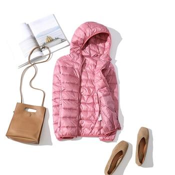 New Brand 90% White Duck Down Jacket Women Autumn Winter Warm Coat Lady Ultralight Duck Down Jacket Female Windproof Parka 25