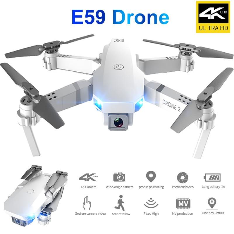 Rc drone uav 4 k profesional quadrocopter e59 fixo-altura dobrável veículo aéreo não tripulado quadcopter e58 atualização