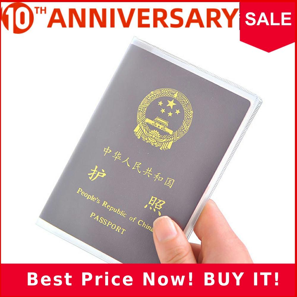 Zoukane Transparent PVC Passport Cover Case Thick Frosted Waterproof Card Slots Frosted Passport Wallet Cover CHLL01