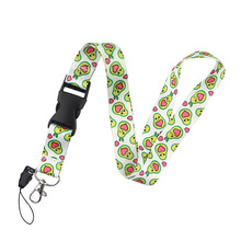 K2050 Green Fruit Avocado Lanyard Cute Keychain Lanyards for Keys Badge ID Cell Phone Rope Neck Straps Accessories Gifts dmlsky kiki s delivery service lanyard keychain anime lanyards for keys badge id mobile phone rope neck straps gifts m3865