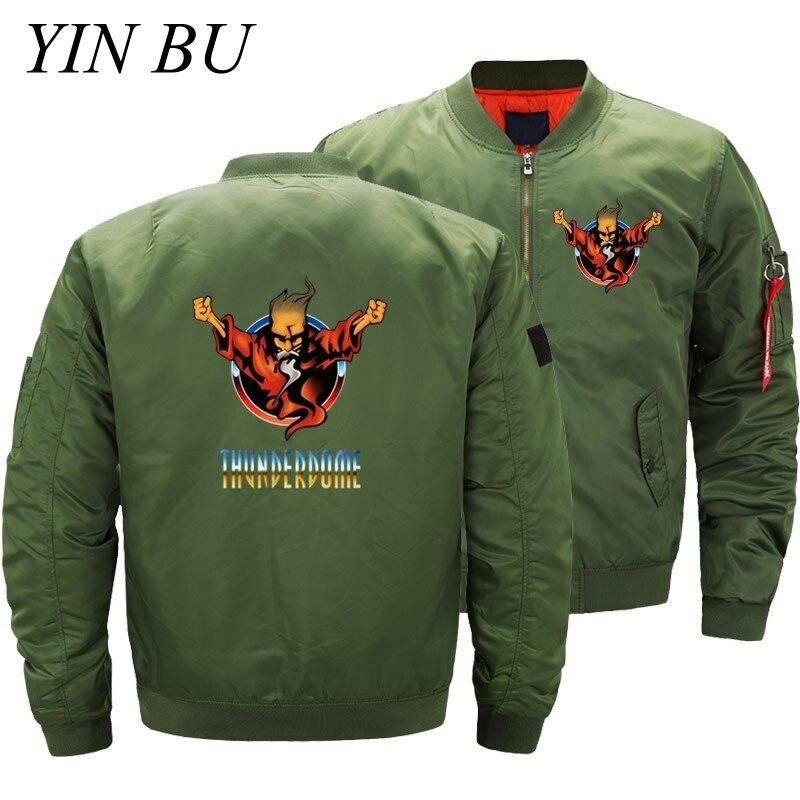 Thunderdome Wizard Logo Hardcore Techno And Gabber Bomber Jackets Men Air Force Thick Pilot Jacket Baseball Coat Streetwear