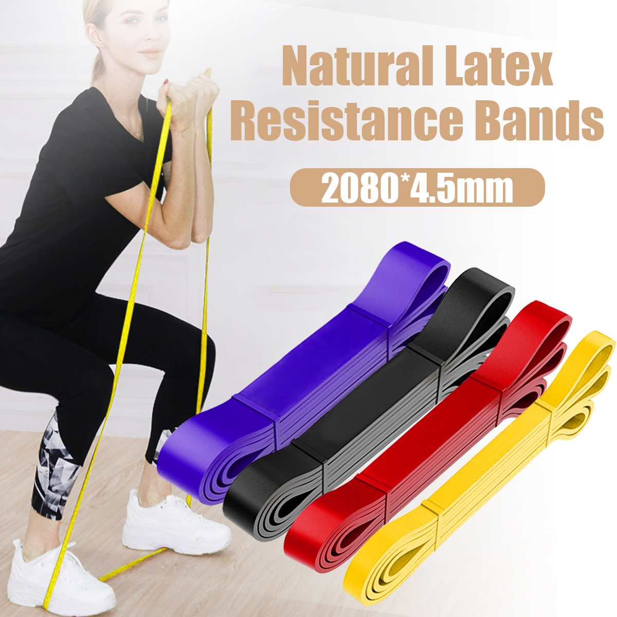 Elastic Resistance Band Exercise Yoga Rubber For Training Pull Rope Loop Strength Fitness Band Workout Home Gym Sport Equipment