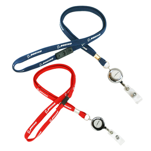 Image 1 - Boeing Airlines Lanyard  787 with Easy Pull Buckle for Pilot Flight Crew ID Holder Blue Red Color
