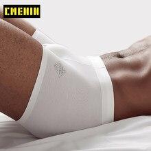 Culotte CMENIN coton LOGO doux Sexy Boxer sous-vêtements pour homme Shorts 2021 nouveau Long boxer hommes Boxershorts sous-vêtements boxeurs Sexi AD308