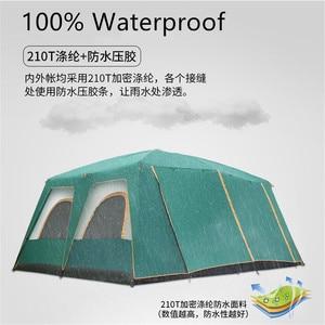 Image 4 - 屋外の大型テント460*360*210センチメートル大パーティーキャンプtentedためキャンプ家族キャビンテント5 8 10男性12 14 16人背避難所