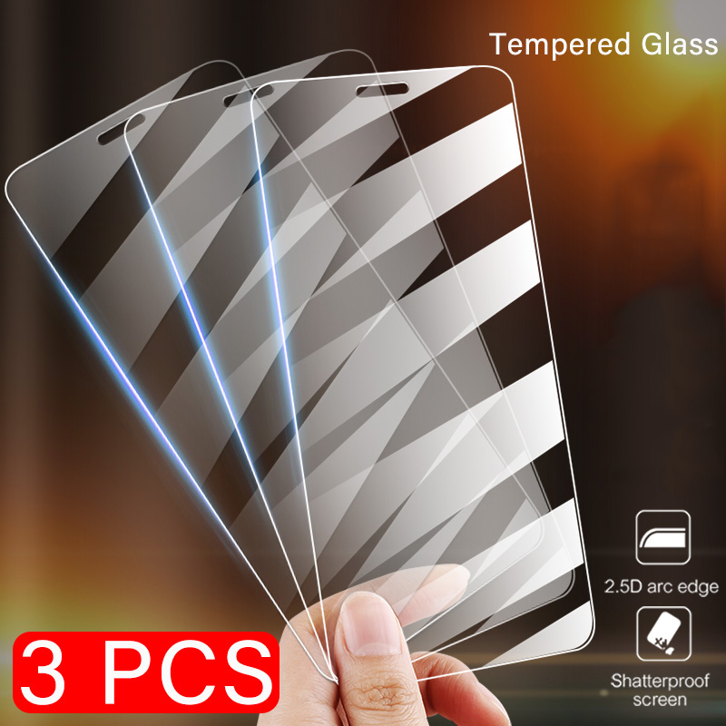 Screen Protector 3Pcs On The For iPhone 7 5S 8 6 6s Tempered Protect Glass For iPhone Xs Max XR 11 Pro 8 Plus Anti-Burst Glass image