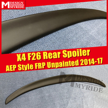 For BMW F26 X4 Trunk Spoiler FRP Unpainted AEP Style Primer Black Rear Trunk Spoiler X-series X4 F26 Spoiler Tail Wings 2014-17 montford car styling abs plastic unpainted primer color rear trunk boot wing roof spoiler for bmw f26 x4 spoiler 2015 2016 2017