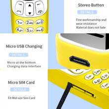 Mini kids SIM Card Mobile Phones Bluetooth Dialer Earphone Magic Voice Changer FM radio Low Radiation MP3 Cell Phones PK 7S+ K8