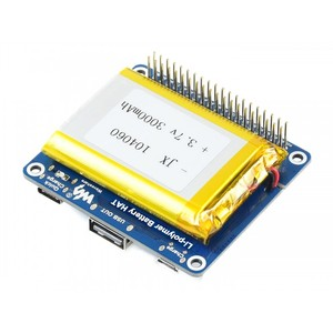 Raspberry Pi Li-polymer Battery HAT SW6106 Power Bank Solution with Embedded Protection Circuits