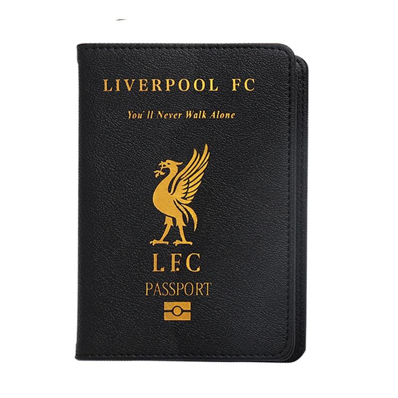 UK Football Club Liverpool Passport Cover  Travel Passport Holder Fit For UK Passport Cover